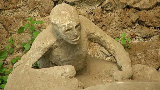 Corpi Pompei Calco in gesso