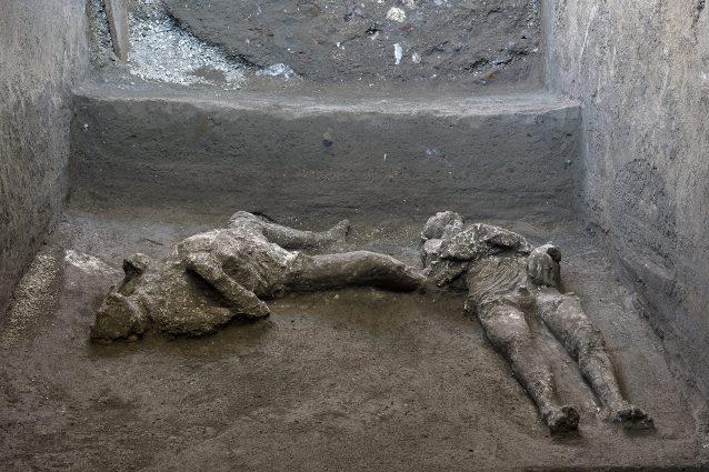 I Corpi ritrovati a Pompei