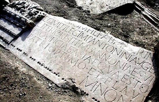 iscrizione funebre Marco Nonio Macrino