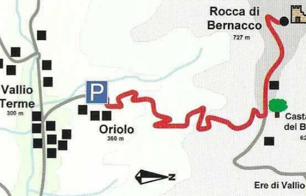 Mappa Escursione Rocca di Bernacco - Sentieri Bresciani
